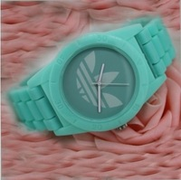 Silicone strap watch clover free shipping