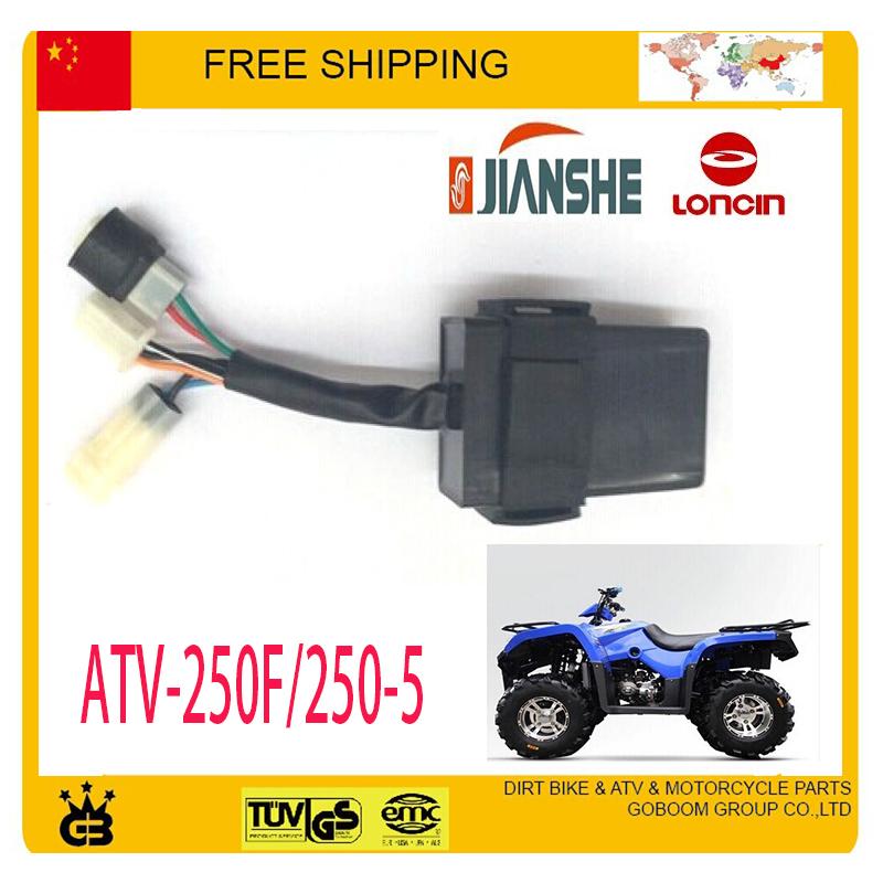 250CC CDI unit jianshe LONCIN ATV ATV250-F Parts Free shipping(China (Mainland))