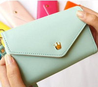 Women Fashion Bags iPhone Wallet Purse Coin Case,Wristlet,Pouch, PU Leather Zip Wallet Clutches Bag cartera  carteira