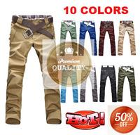 50% OFF Korea Style New Fashion Spring Male Trousers Slim Fit Straight Casual Cotton Harem Men Pants 10 Colors M-XXL