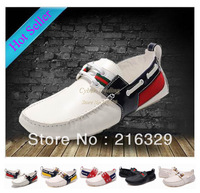Free shipping Wholesale 100% Genuine Leather Brand Men's Casual shoes on sale cheap mens dress leisure shoes size eur 40-46