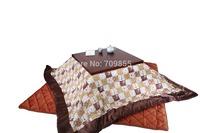 (2pcs/lot) FU07 Japanese Kotatsu Futon Top & Bottom Set, Square 195*195cm
