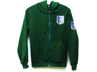 Green Anime Attack on Titan Cosplay Hoodie Scouting Legion Hooded Sweater