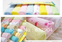 "Gerber towel baby wash cloth 23x23cm"" infant towel baby feeding towel handkerchief 8pcs in pack 40pc/lot"