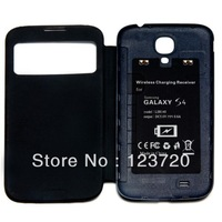 Flip Smart Cover Case with Qi Wireless Charging Receiver for Samsung Galaxy S4 IV I9500 two colors