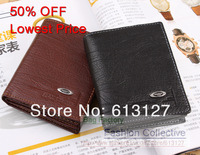 PROMOTION !  51% discount Fashion Hot selling  men's PU leather wallet money Pockets ID Window 2 colors 058 2 Free Shipping
