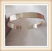 925 silver script bangle--custom by any name