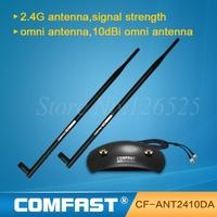 New  20dBi 2.4 GHz 802.11b/g Omni Wireless WiFi Antenna RP-SMA Magnet Black Free Shipping Comfast CF-ANT2410DA