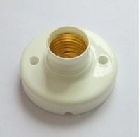 Free shipping, E27 Plastic Socket Light Lamp Holder Base E27 lamp holder