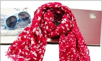 New Design fashion star scarf women soft cotton scarf  fashion wholesale star print scarf 2013 cute scarf