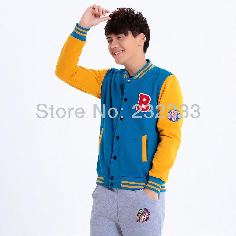 Free Shipping 2013 Letterman B Women / Men's Baseball Jackets Lovers Sweater Shirt Cardigan Coat(China (Mainland))