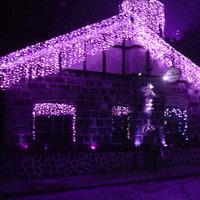 4pcs 4M*0.6M 144 Bulbs Curtain LED Icicle Light , Male and Femal plug, Party Wedding Christms Garden XMAS decoration,