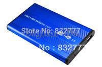 """4PCS/LOT 2013 HOT SALE External 2.5"""" USB 2.0 SATA hard disk driver HDD case enclosure 182"""