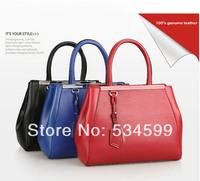 free shipping Fashion autumn vintage crocodile pattern women's cowhide handbag fashion handbag large bag