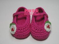Baby Shoes Booties Handmade Crochet Shoes Hand Knit Baby Girl Booties 0-3Mths(9cm) 3-6Mths(10cm) 6-9Mths(11cm) 9-12Mths(12cm)