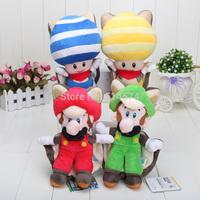 9inch 8inch Free Shipping Super Mario Plush Doll Toy Squirrel Musasabi Mario Luigi SET Retail