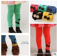 5pcs/Set Korean Children's clothing Candy Color Bottoming Cherry Leggings Girls' trousers Boy children pants Pantyhose CL0504