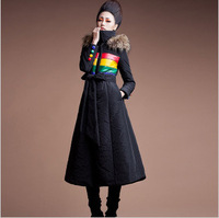 High Quality 2013 Winter Women Warm Coat Longer Section Ladies Korean Slim Padded  Hooded Fashion Maxi Down Jackets