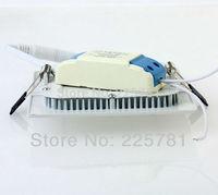 Free shipping 3W square led panel light 10pcs/lot new Ultra thin Downlight L90*W90mm AC90-250V