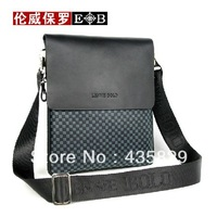2014 Hot sale: Quality cowhide genuine leather  men check shoulder bags messenger casual man bags