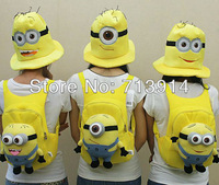2013 hot sale Retail kids Despicable ME 2 minions bag minion toy plush backpack toys boys girls backpack,children cute backpacks