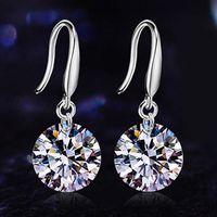 925 Sterling Silver Jewelry Earrings For Women  7mm Gift Jewellery 261884