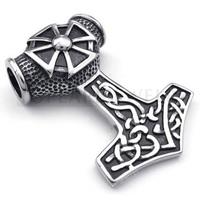Topearl Jewelry 3pcs Iron Cross Thors Pendant Big Size Stainless Steel Pendant Vintage Black MEP10