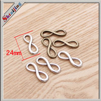 New Arrival 24*8mm Latest Design Zinc Alloy Pendant  Vintage Infinity  Charms jewelry making