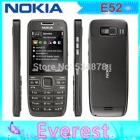 Hongkong post Free shipping  E52 Original Nokia E52 WIFI GPS 3G Unlocked Mobile Phone Russian keyboard Russian language