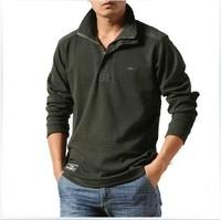 T-shirt Men Wear HOT NEW 2014 Europe and America Autumn Fashion Brand Men Shirt Long Sleeve Lapel Leisure T-shirt Free Shipping