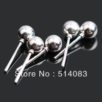 earring silver 925 sterling Wholesale fashion 5mm round ball charms stud earrings box packing earrings for women