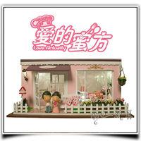 New Store Promotion Log House Villa Japan Zakka Free Shipping Wholesale DIY Small Doll House Aegean Sea