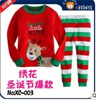 wholesale--2013 HOT brand Children's Christmas deer Pyjamas Suit Baby Santa pajama kids clothing