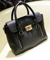 2013 Winter New Genuine Leather Women Leather Handbag Button Chain Fashion Design Totes Women Messenger Bags
