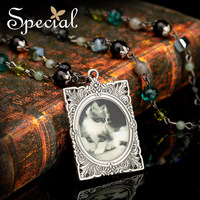 Special Alloy Pendant Long Necklaces Free Shipping Crystal Vintage Pendant Necklaces XL13A09062