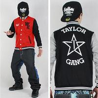 Last kings lovers design hiphop baseball shirt tyga hip-hop hiphop baseball uniform jacket outerwear