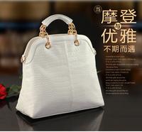 2013 fashion famous brand good quality composite cow women leather handbag elegant women crocodile pattern handbag messenger bag