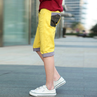 2013 colorant match slim fashion casual shorts plaid men's roll up hem knee length trousers