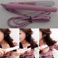 Professional Mini Pink Ceramic Electronic hair straighteners 200-250V curling irons curler Straightening, Free Shipping