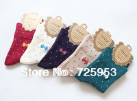 Free Shipping Dot cotton Socks For Women Sock 5pairs/A Lot