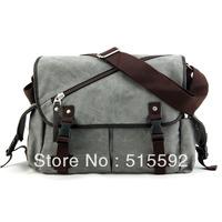 Free Shipping new 2013 men's bags men's shoulder bag canvas bag casual messenger bag student school bag