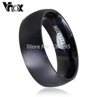 Fashion men  titanium ring high quality black  titanium wedding rings for men and women