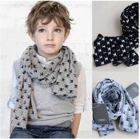 Retail & Wholesale Fashion kids Scarf Baby Skull Scarves Double-deck Spring Autumn Boys Cotton Scarf Children Gift Free Shipping