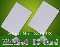 free shipping! Mifare1 S50 Blank card/tag  Thin pvc Card RFID 13.56MHz IC standard Card, only $0.25