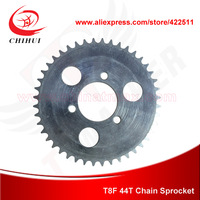 Free Shipping T8F 44Teeth  Chain Sprocket for Motorcycle/Motor Bike Rear Sprocket (Electric Scooter Spare Parts)