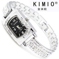 Free Shipping KIMIO Brand Crystal Stainless Steel Watch women ladies fashion Japan Movement Wrist Watch d138