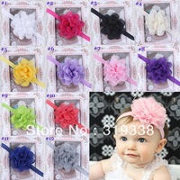 Baby Girl's Lace Flower Headband Headwear Girls Flora Hairbands Infant Headband free shipping 40pcs HB137