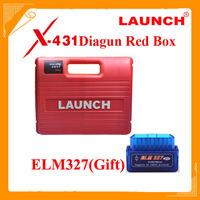 Promotion! Launch x431 Diagun main unit+ diagun bluetooth x 431 Launch Diagun Red box for Launch Diagun x-431
