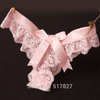 wholesale Europe brand G-string sexy ladies panties women underwear floral lace lingerie women T panties
