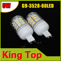 5w 220V G9 3528 60LED LED Spot light G9 3528 SMD 60 LEDs Bulb Lamp Light Spotlight G9 Corn Lights 4Pcs/Lot Free Shipping